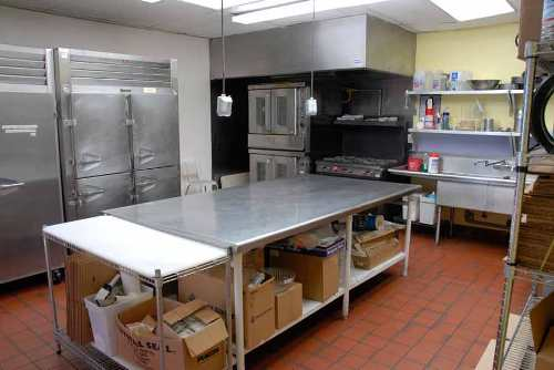 Commercial kitchen in a restaurant in North Miami Bech, Florida